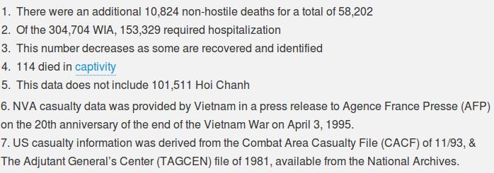 thevietnamwar.info - casualties