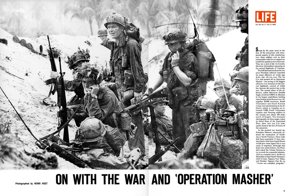 "On with the war and ""Operation Masher"""